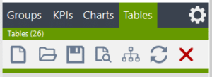 Visual KPI Designer Tables object tools