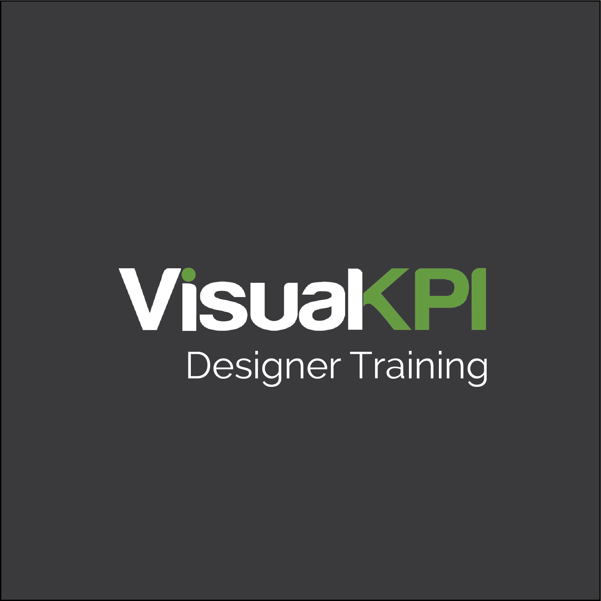 Visual KPI Designer Training