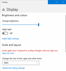 change high dpi settings