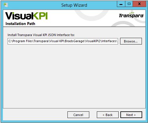 install JSON interface