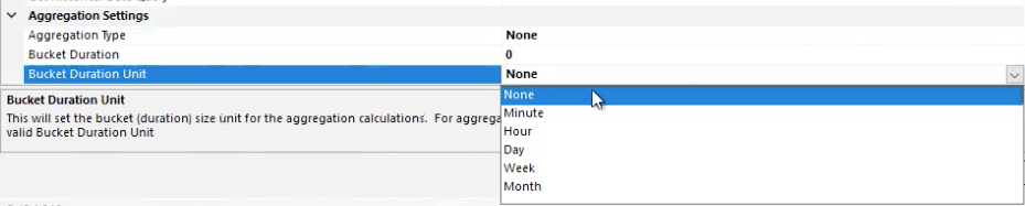 ODBC aggregations settings