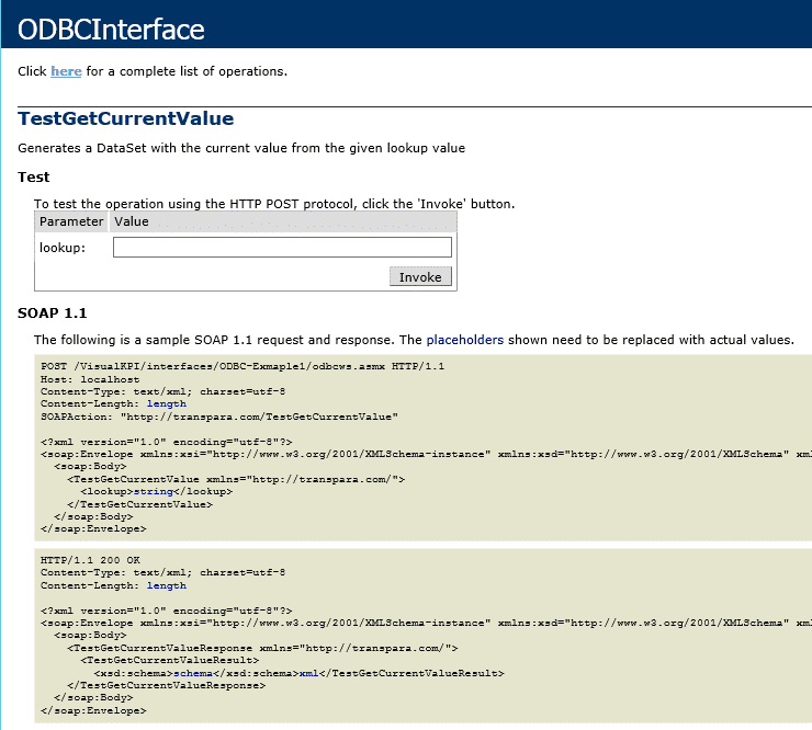 test ODBC interface
