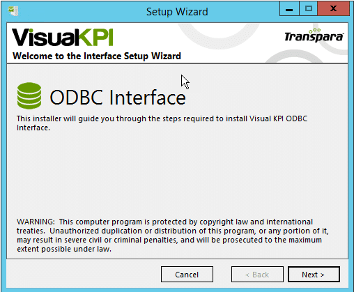 install ODBC interface