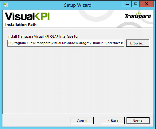 install OLAP interface
