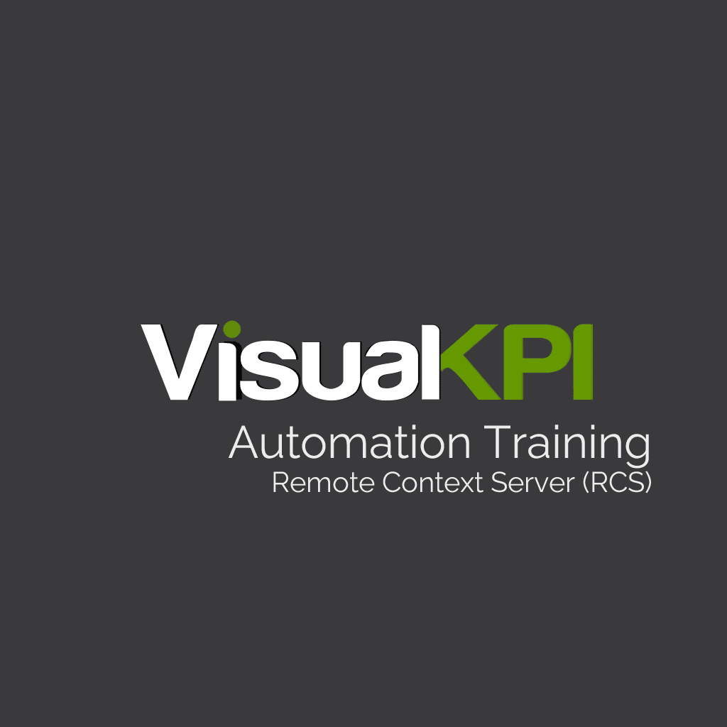 Visual KPI End-User Training