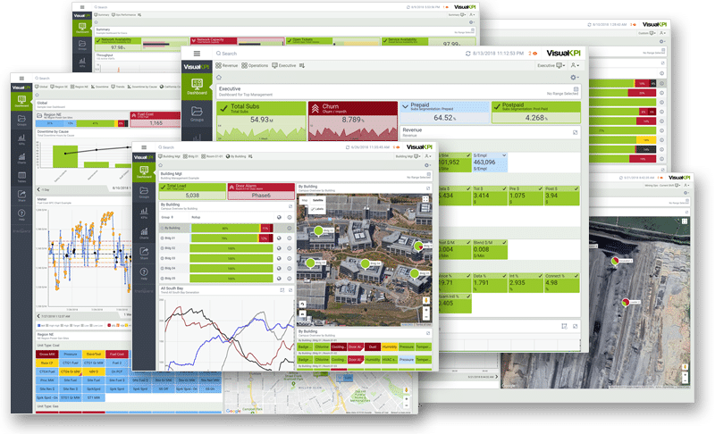 Real-Time Dashboard Collage