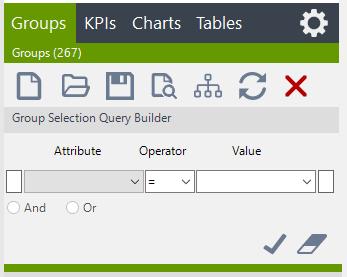 Visual KPI Designer open data search groups