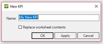 Create a new KPI