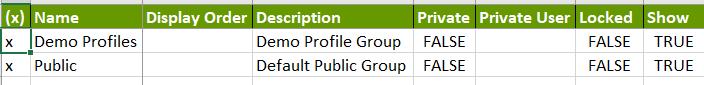 configure profile groups