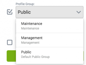 select from a profile group to change profile