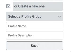 name the profile to create a profile