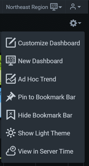 dashboard options