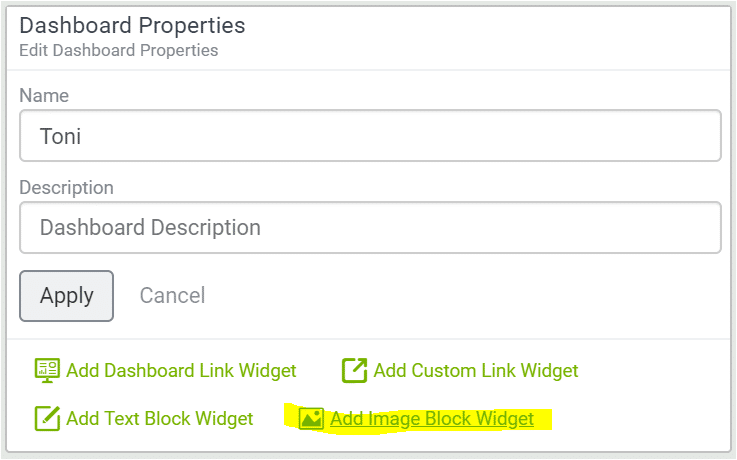 add image block widget