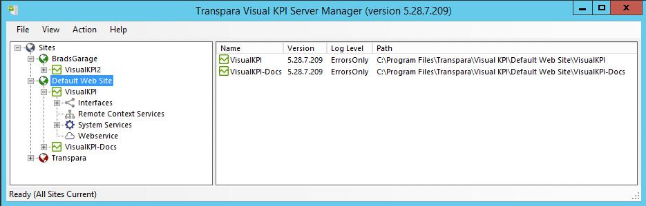 Visual KPI website folder
