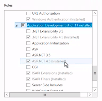 roles and permissions for installation